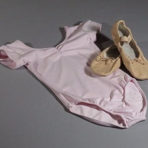Danskin Now Ballet Leotard & Bloch Ballet Slippers
